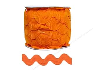 Cheep Trims Ric Rac jumbo: Jumbo Ric Rac by Cheep Trims  1 13/32 in. Orange (24 yards)