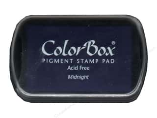 ink pads: Colorbox Full Size Pigment Inkpad Midnight