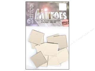 craft & hobbies: Darice Mirrors Big Value Square 1 in. 25 pc.