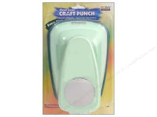Clearance Uchida Tri-Corner 3 in 1 Punch: Uchida Clever Lever Extra Giga Craft Punch 3 1/2 in. Scallop Circle