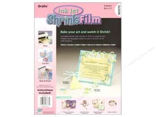 Watches: Grafix Shrink Film 8 1/2 x 11 in. Ink Jet White 6 pc.