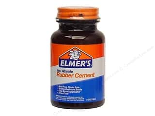 glues, adhesives & tapes: Elmer's Rubber Cement 4 oz. No-Wrinkle