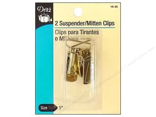 Quilting Clips: Suspender / Mitten Clips Gilt by Dritz 2pc