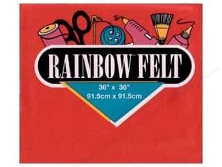 "Kunin Rainbow Felt 36""x 36"" Red (3 pieces)"
