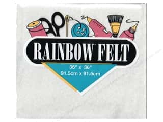 "Kunin Rainbow Felt 36""x 36"" White (3 pieces)"