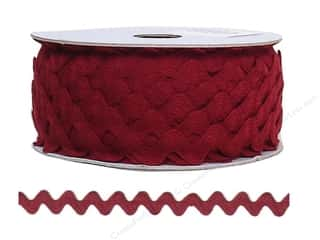 "Cheep Trims Ric Rac 1/2"": Ric Rac by Cheep Trims  11/16 in. Wine (24 yards)"