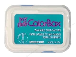 Clearance ColorBox Premium Dye Ink Pad: My First ColorBox Dye Ink Pad Turquoise
