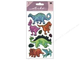 stickers: EK Sticko Stickers Metallic Dinos