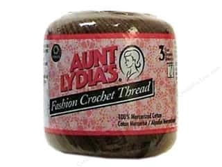 Aunt Lydia's Fashion Crochet Thread Size 3 #365 Coffee