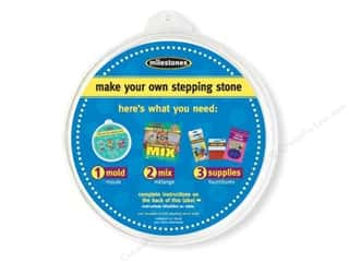 floral & garden: Milestones Stepping Stone Mold 12 in. Large Round