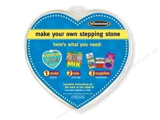 floral & garden: Milestones Stepping Stone Mold 12 in. Large Heart