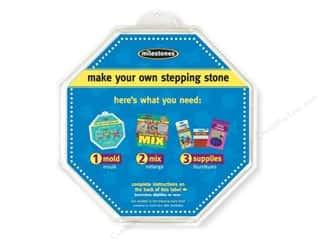 floral & garden: Milestones Stepping Stone Mold 12 in. Large Octagon