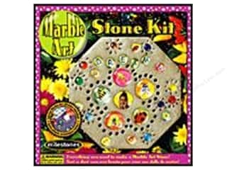 Milestones Stepping Stone Kit 8 in. Marble Art Octagon