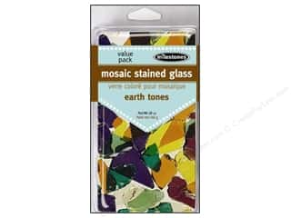 floral & garden: Milestones Mosaic Stained Glass Mix  - Earth Tone