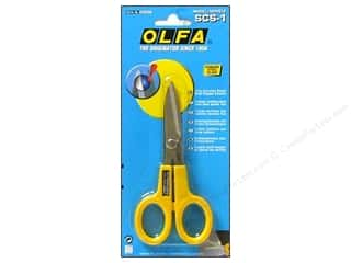 Olfa Stainless Steel Scissors Serrated Edge 5""