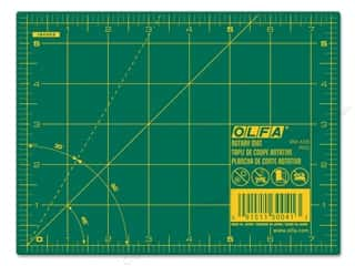 Olfa: Olfa Cutting Mat 5 1/2 x 7 1/2 in. Green with Yellow Grid
