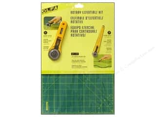 rotary cutter: Olfa Rotary Cutter & Mat Essentials Kit