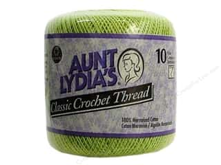 Aunt Lydia's Classic Cotton Crochet Thread Size 10 350 yd. Wasabi