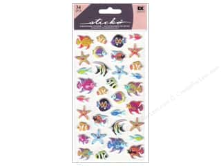 scrapbooking & paper crafts: EK Sticko Stickers Puffy Tropical Fish