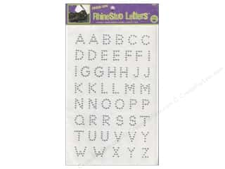 Jewel Craft: Rhinestud Iron-On Letters by Dritz 3/4 in. Silver