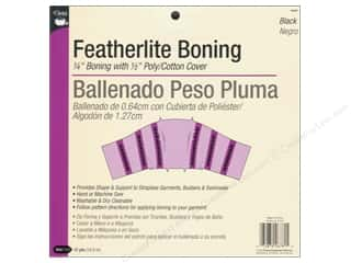 Featherlite Boning by Dritz 1/4 in. Black 12yd