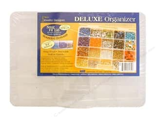 Darice Jewelry Bead Storage System: Darice Deluxe Bead Organizer 10 5/8 x 7 1/2 x 1 5/8 in. with 20 Compartments