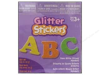 Darice Foamies Alphabet Stickers Bucket Glitter 1.05 oz.