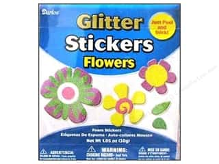 Darice Foamies Stickers Bucket Glitter Flower #1 1.05 oz.