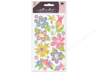 theme stickers: EK Sticko Stickers Small Fanciful Flowers