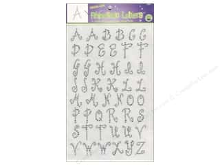 Jewel Craft: Rhinestud Iron-On Letters by Dritz 1 in. Clear