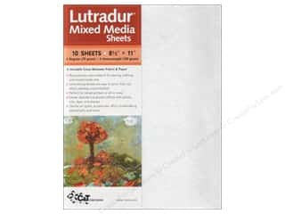Non Woven Fabrics / Lutradur: C&T Publishing Lutradur Mixed Media Sheets 8 1/2 x 11 in. 10 pc. Assorted