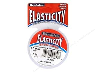 elastic: Beadalon Elasticity Bead Cord 1.0 mm (.039 in.) Black 5 m (16.4 ft.)