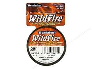 beading & jewelry making supplies: Beadalon Wildfire Bead Weaving Thread .15 mm Black 50 yd.