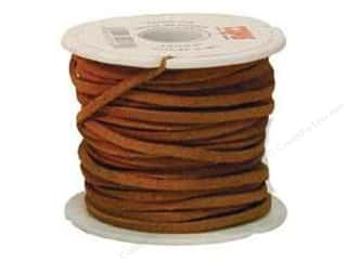leather factory jewelry: Leather Factory Suede Lace 1/8 in. x 25 yd. Light Rust (25 yards)