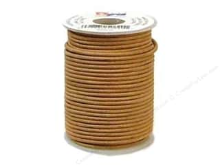 leather factory jewelry: Leather Factory Round Lace 2 mm x 25yd Natural (25 yards)
