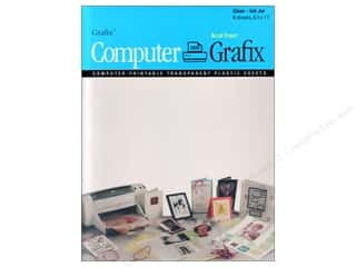 scrapbooking & paper crafts: Grafix Computer Transparent Film 8.5 in. x 11 in. Ink Jet