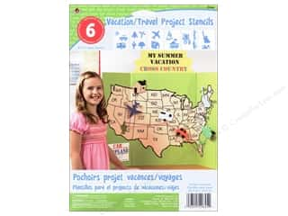 """Clearance: Plaid Stencil Paper 8""""x 10"""" Kids Vacation/Travel"""