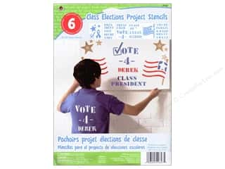 craft & hobbies: Plaid Paper Stencils 8 x 10 in. Kids Class Elections