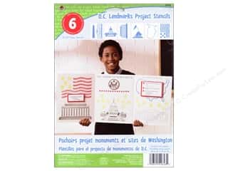 craft & hobbies: Plaid Paper Stencils 8 x 10 in. Kids D.C. Landmarks
