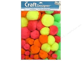 craft & hobbies: Darice Pom Poms Assorted Size Multicolor 100 pc.