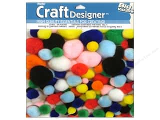 Darice Pom Poms Assorted Size Multicolor 100 pc.