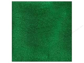 scrapbooking & paper crafts: American Crafts 12 x 12 in. Cardstock Glitter Evergreen (15 sheets)
