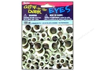 Darice Googly Eyes Paste-On Assorted Glow in the Dark 100 pc.