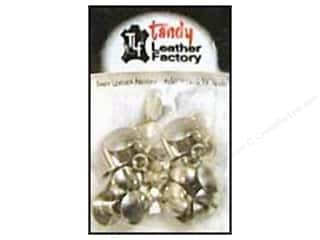 "Leather Factory Chicago Screw Post 1/4"" Nickel 10pc"