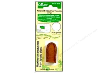 Clover Natural Fit Leather Thimble - Large