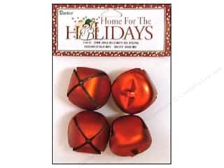 craft & hobbies: Darice Jingle Bells 1 3/8 in. Matte Red 4 pc.