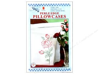 stamps: Jack Dempsey Pillowcase Perle Edge White Long Stemmed Rose