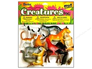 Darice Kids Plastic Creatures 2 in. Farm Animals 12 pc.