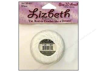 yarn & needlework: Lizbeth Thread Size 20  #601 Snow White