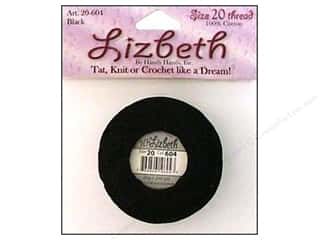 yarn & needlework: Lizbeth Thread Size 20  #604 Black